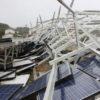 太陽光発電所 台風15号の被害状況を確認
